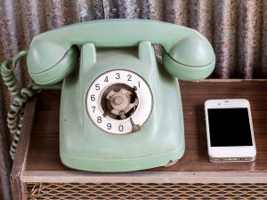 dial phone and iphone